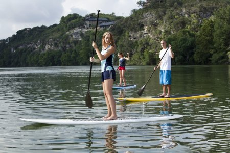 Paddle boarding in Austin, Texas.